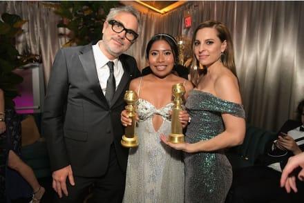 Revelan quién hizo el polémico vestido de Yalitza Aparicio en los Golden Globes
