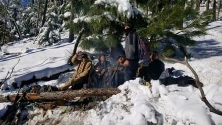 Patrulla Fronteriza rescata a cinco indocumentados a punto de morir congelados