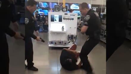 Violento arresto a hispano en Walmart se vuelve viral (VIDEO)