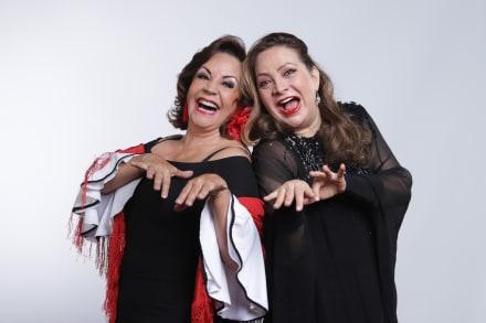 Actrices venezolanas Elba Escobar y Flor Núñez se lucen en la comedia 'Fleco y Lentejuela'