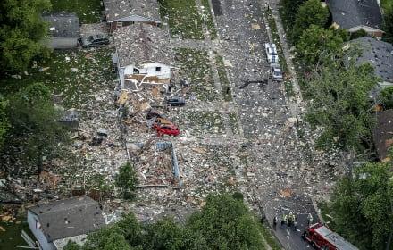 Explosión en casa de Indiana deja un muerto y dos heridos