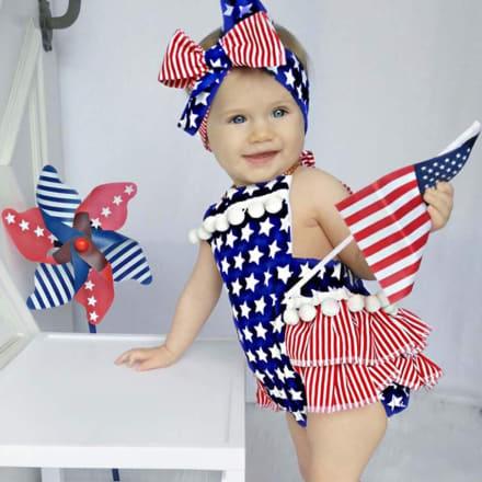 Baby 4 de julio: Cómo vestir a tu bebé patriótico este día