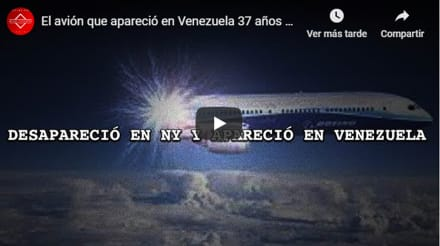 Avión despega de NY y aparece en Venezuela 37 años después… ¿Qué ocurrió?