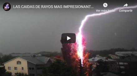 Los rayos de tormenta más impactantes grabados por cámara (VIDEO)
