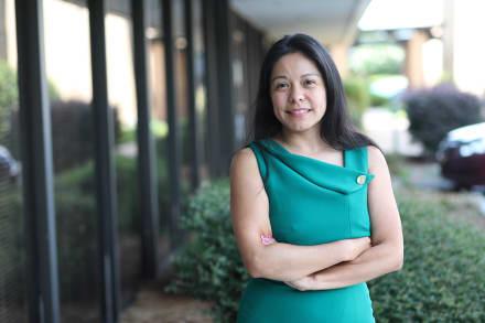 Legisladora Brenda López Romero en plena campaña para el Congreso federal en 2020