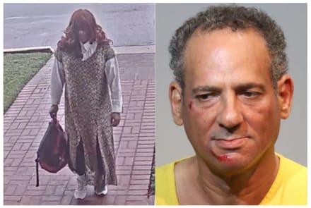 Hispano asaltó banco disfrazado de mujer y huyó en una patrulla