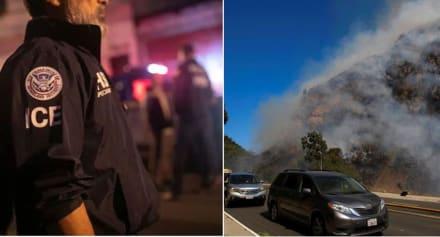 ICE suspende operativos durante evacuaciones por incendios en California