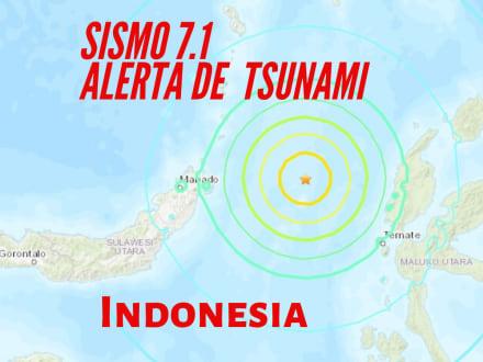 ÚLTIMA HORA: Sismo 7.1 en Indonesia y alerta de tsunami
