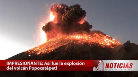 Volcán Popocatépetl: captan en video sorprendente explosión