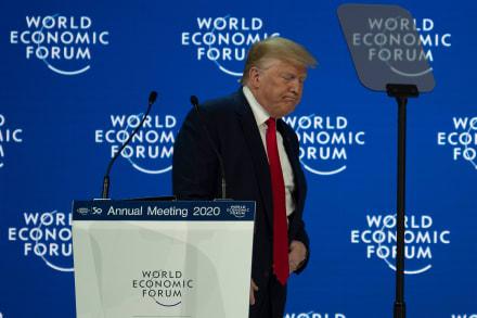 Trump califica el impeachment como un 'engaño' de larga data desde Davos
