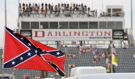 Histórico: NASCAR prohíbe bandera confederada en carreras y propiedades