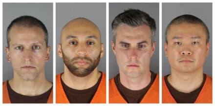 Tres oficiales acusados de la muerte de George Floyd se encuentran en libertad bajo fianza