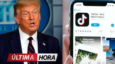 Trump firma orden ejecutiva para prohibir negocios con TikTok a partir de 45 días