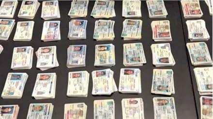 Autoridades estadounidenses se incautan de 20,000 licencias de conducir falsas