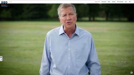 Exgobernador republicano John Kasich muestra su apoyo a Biden