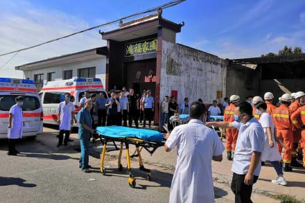 China: Derrumbe de restaurante de dos plantas deja 17 muertos y decenas de heridos