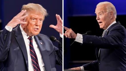 Biden manda a callar a Trump en pleno debate