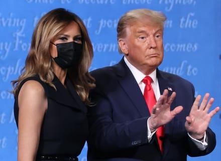 Melania Trump reaparece en debate tras vencer al coronavirus