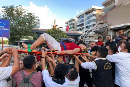 Al menos 19 muertos dejó sismo de magnitud 6,9 en Turquía y Grecia