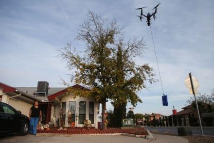 Walmart usa drones para entregar en casa kits de prueba de coronavirus en Texas y Nueva York