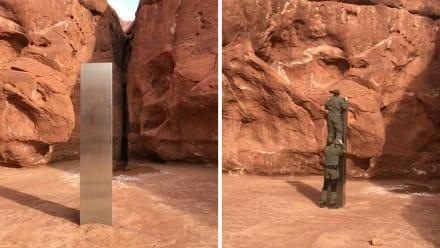 Curioso: Misterioso monolito brillante encontrado en el desierto de Utah (VIDEO y FOTOS)