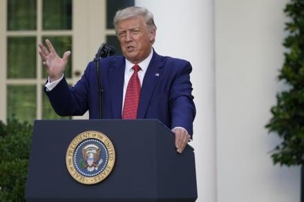 Desde el muro, Trump le agradece a AMLO por colaborar en temas de migración