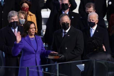 Kamala Harris juramenta como la primer vicepresidente mujer de los Estados Unidos