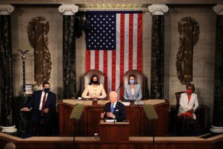 Ruptura de 'Techo de cristal', Kamala Harris y Nancy Pelosi hacen historia en discurso de Biden (FOTO)