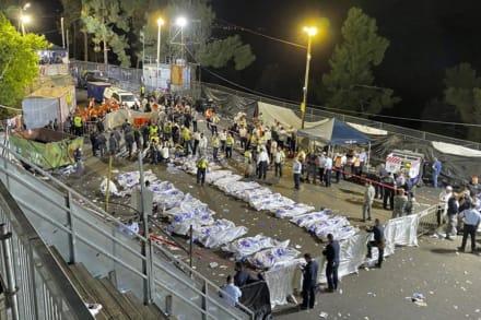 Estampida en celebración religiosa en Israel causa al menos 44 muertos (VIDEOS)