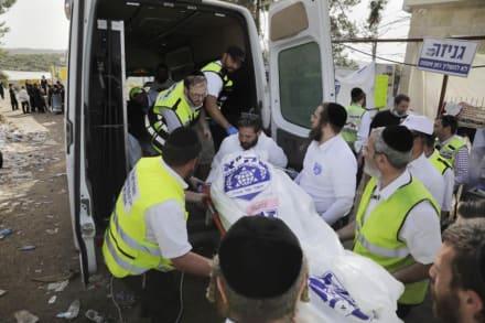 Desgarradoras imágenes de la brutal estampida que dejó 44 muertos en Israel