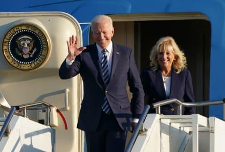 Joe Biden llega a Reino Unido como parte de su primera escala en Europa