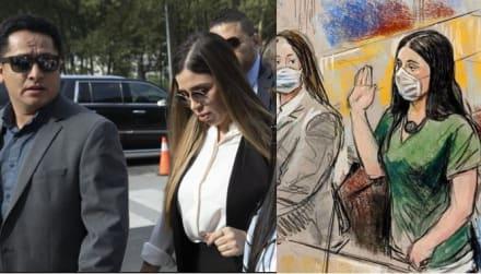 """Emma Coronel dijo """"culpable"""" en español tres veces y de ahí vinieron sollozos"""