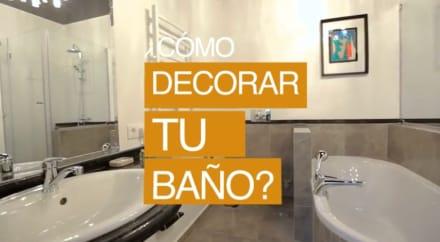¿Cómo decorar tu baño? (Video)