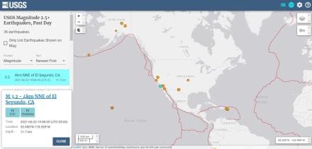 Reportan sismo de 3.4 grados en El Segundo, California
