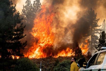 Ordenaron evacuaciones por voraz incendio al norte de California
