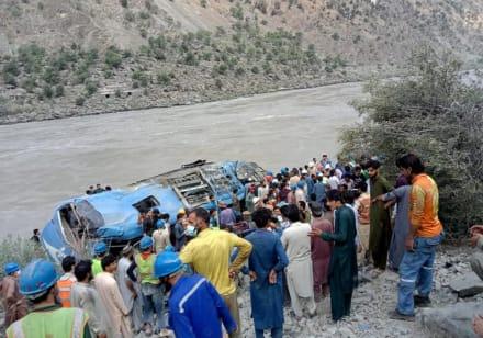 13 muertos en accidente de autobús en Pakistán (Fotos)
