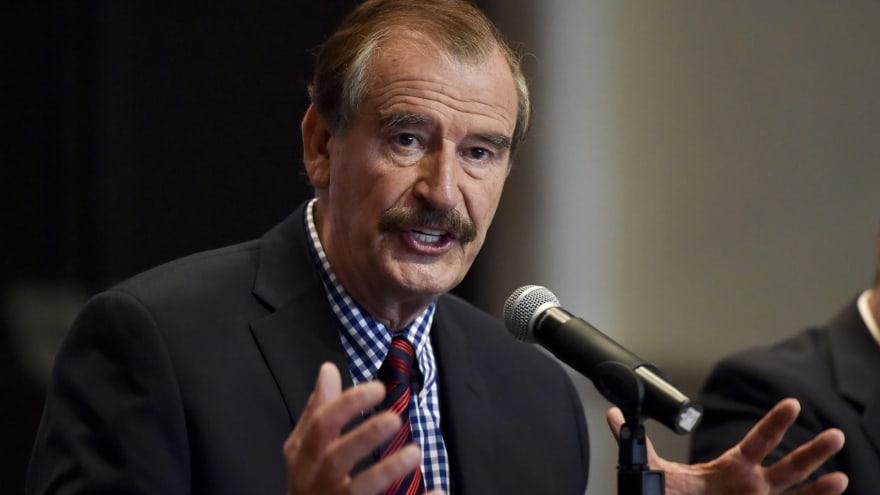 """Vicente Fox: """"He cambiado… ayudaré a pagar la construcción del muro"""""""