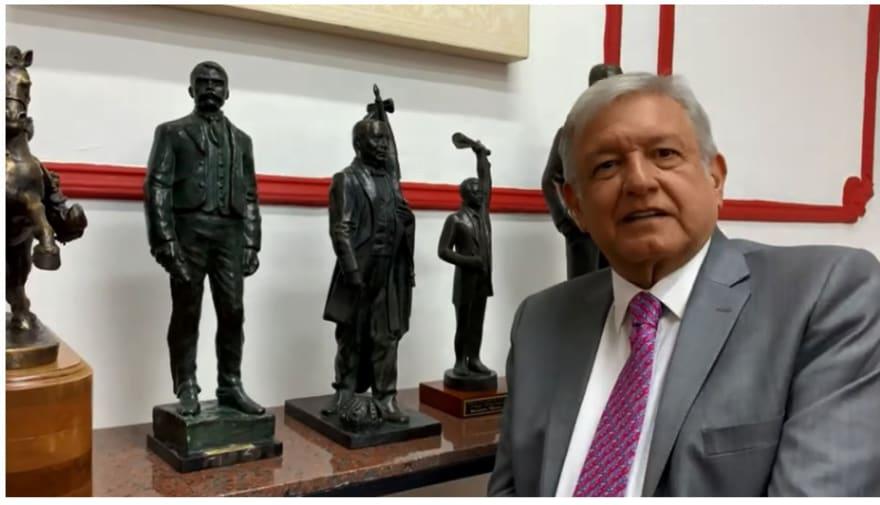 AMLO celebra el fin de pensiones a expresidentes (VIDEO)