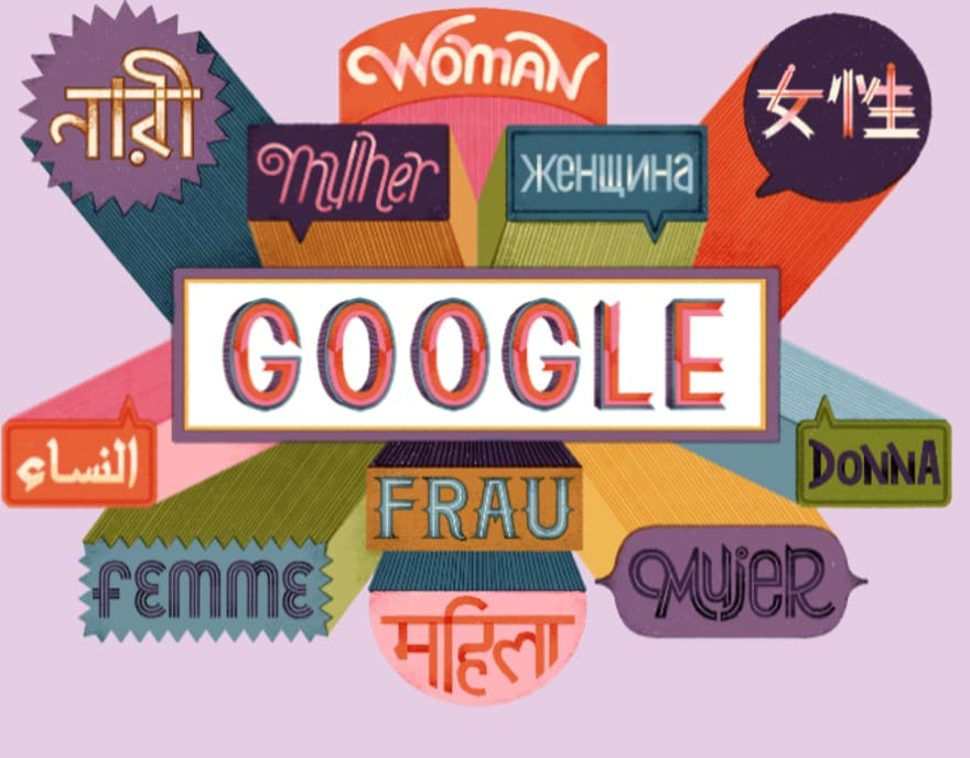 Día de la Mujer: Homenaje de Google Doodle a las mujeres del mundo