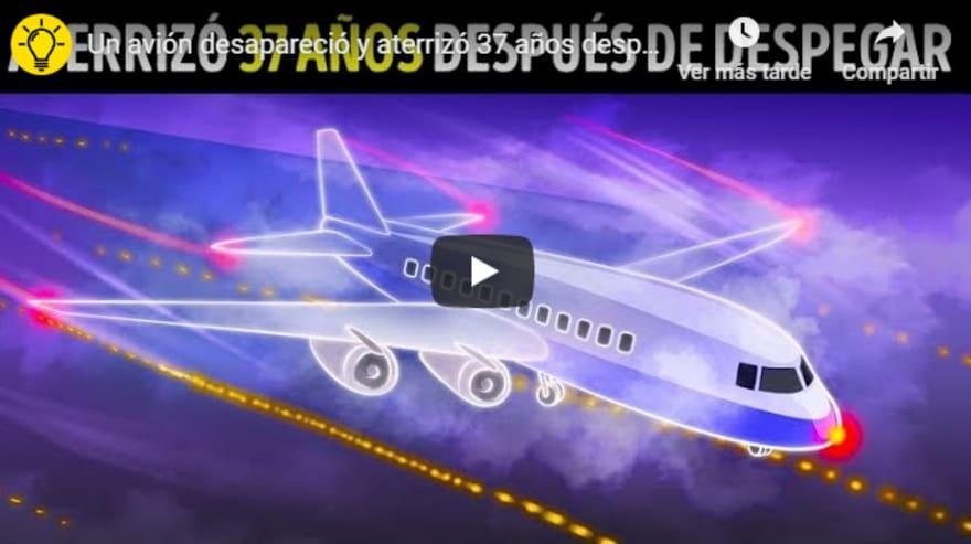 Avión aterriza 37 años después de despegar… ¿Qué sucedió?