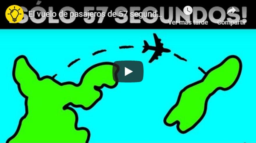El vuelo más corto del mundo ¡Solo 57 segundos de viaje! (VIDEO)