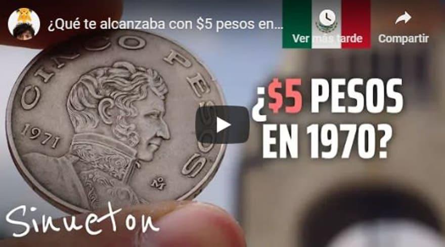 Nostalgia del peso mexicano: ¿Para qué te alcanzaba con $5 pesos en 1970 en México?