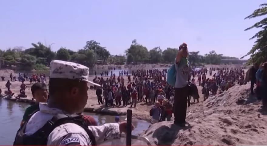 Gobierno de México: los que cruzaron río Suchiate serán arrestados