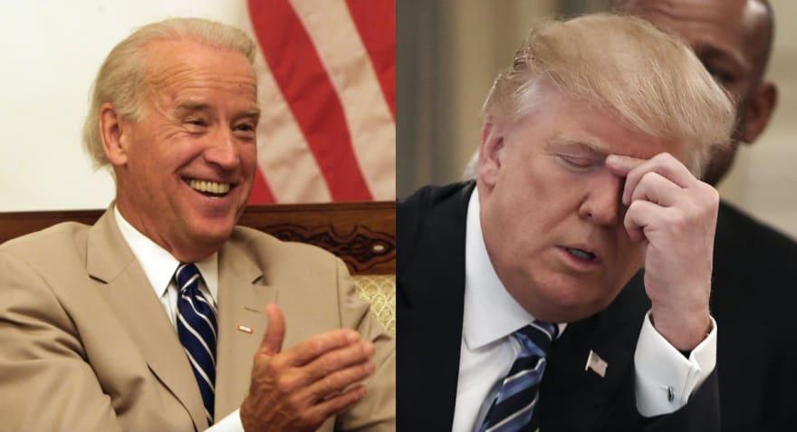 """Encuesta: Coronavirus """"da"""" ventaja de 12 puntos a Joe Biden sobre Donald Trump (FOTO)"""