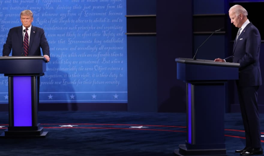 Primer debate: Trump y Biden se ven las caras por primera vez antes de las elecciones 2020