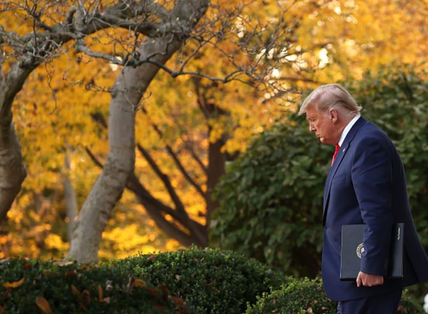 Trump sigue sin reconocer su derrota en su primera intervención en 8 días