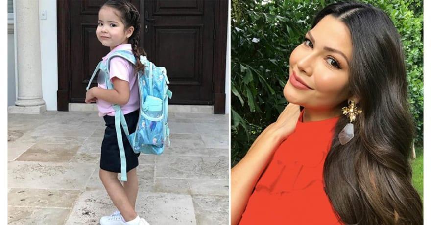 Hija de Ana Patricia recibe crueles críticas, en su primer día de escuela