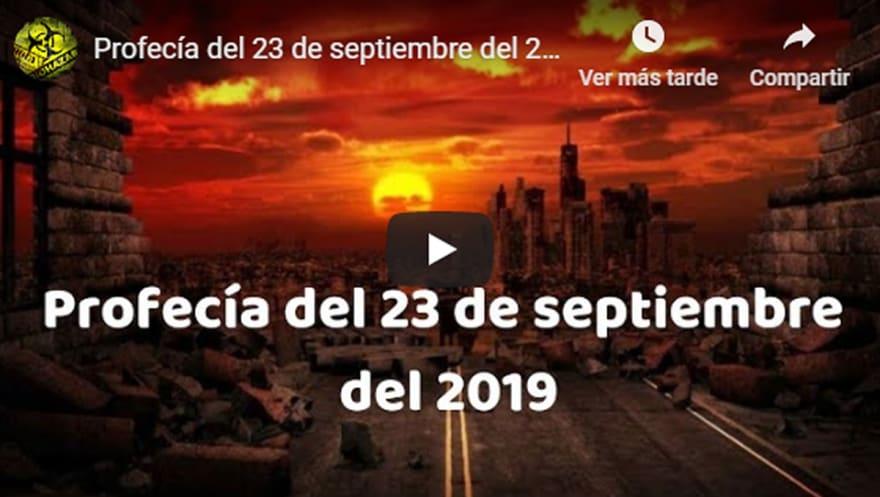 Profecía del 23 de septiembre… La llegada de Cristo y el Apocalipsis (VIDEO)