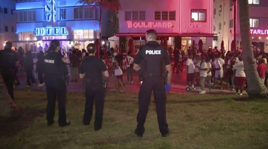 Extienden toque de queda en Miami Beach tras más de 1,000 arrestos