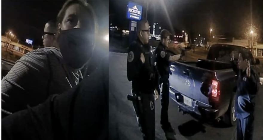 Crónica: Policía intercepta a pareja latina justo al entrar al motel